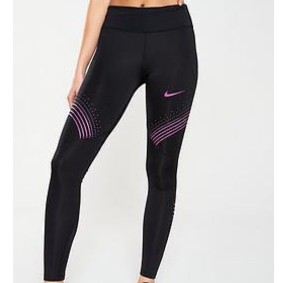 fashion lace up in best sneakers NWT Nike Run Fast Graphic Logo Mesh Leggings Large NWT